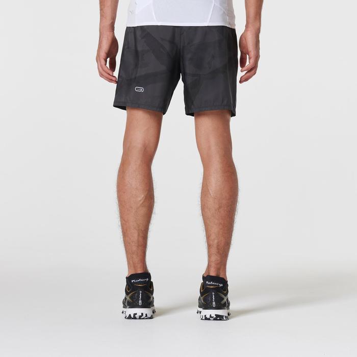 baggy Short voor trail heren grijs print
