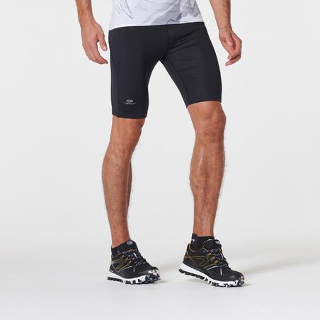 Mallas cortas de carrera de montaña para hombre. Color negro bronce