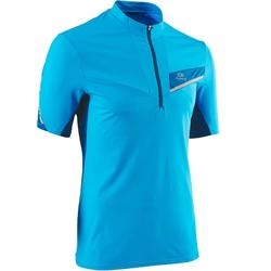 Tee shirt manches courtes trail running bleu turquoise homme