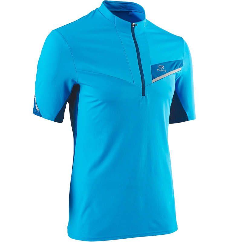 MAN TRAIL RUNNING CLOTHES Trail Running - TRAIL M SS TS BLUE/TURQUOISE EVADICT - Trail Running Clothes
