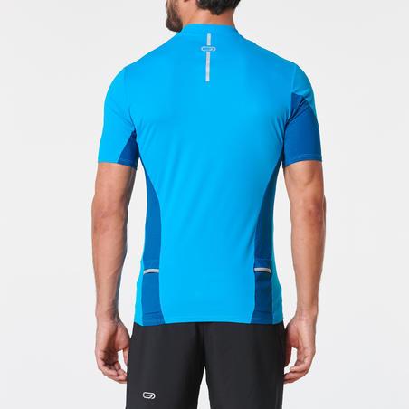 Playera de manga corta para la carrera en montaña azul turquesa hombre