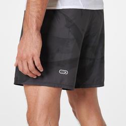 Celana pendek lari gunung baggy pria graph abu-abu