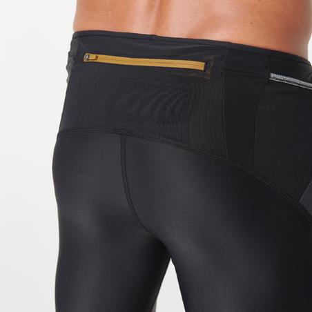 Celana Ketat Lari Pria - Hitam/Karbon