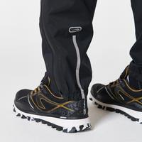 Men's Trail Running Waterproof Rain Trousers - black