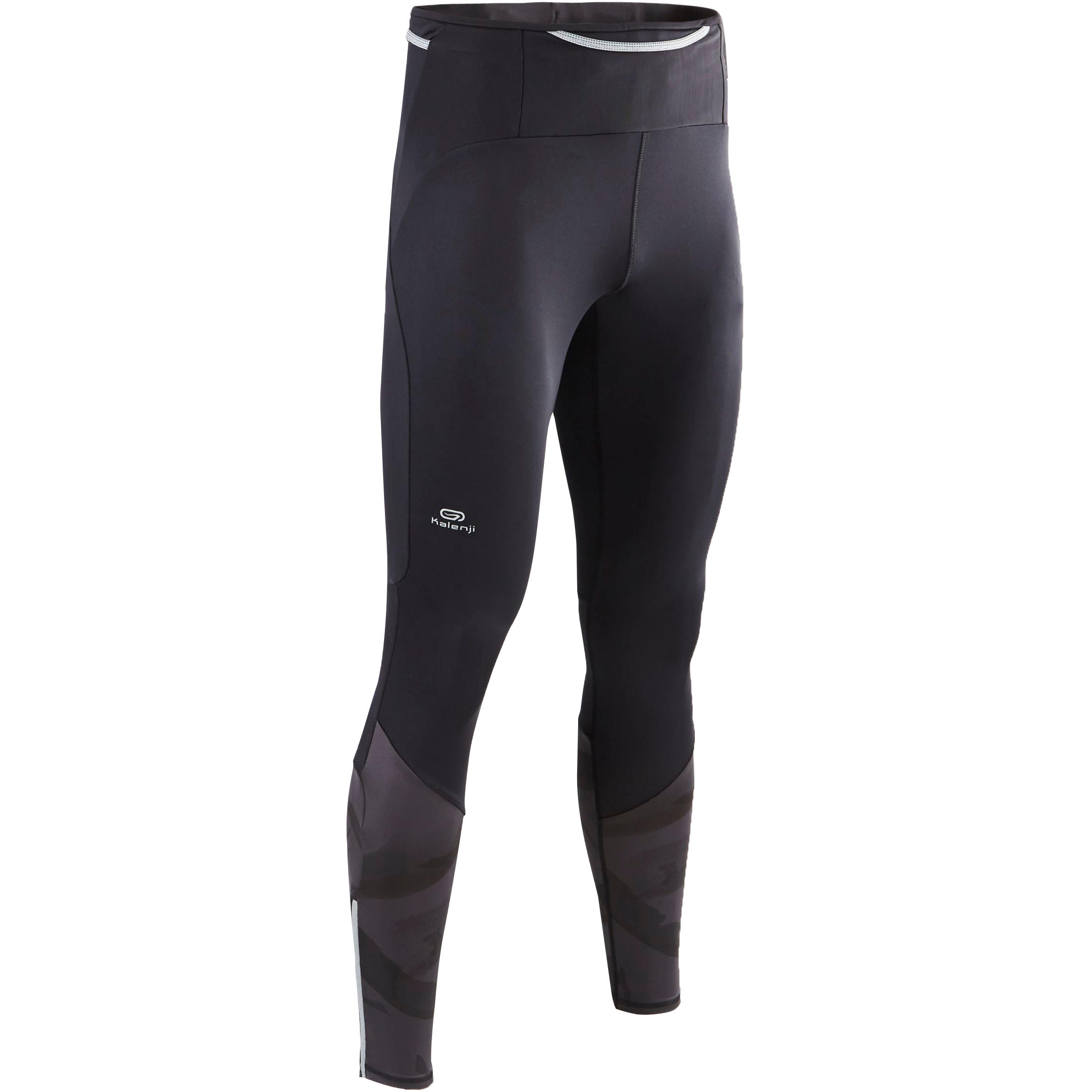 Mallas largas trail running hombre negras grises