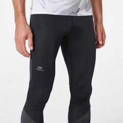 男款越野跑步緊身褲 - 黑灰配色