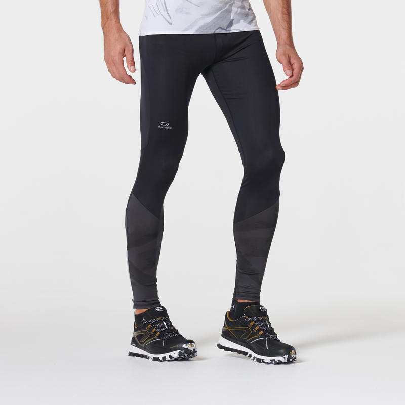 Calzas largas trail running negras grises hombre