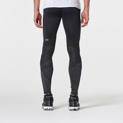 Collant trail running noir gris homme