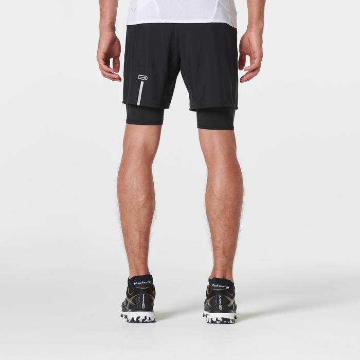 Short con mallas confort trail running negro para hombre