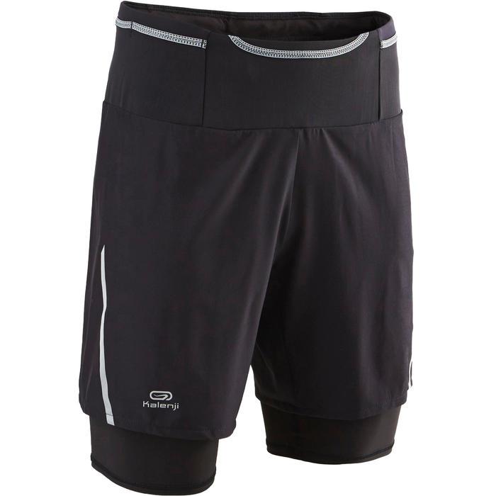 Baggy short voor traillopen Comfort heren zwart