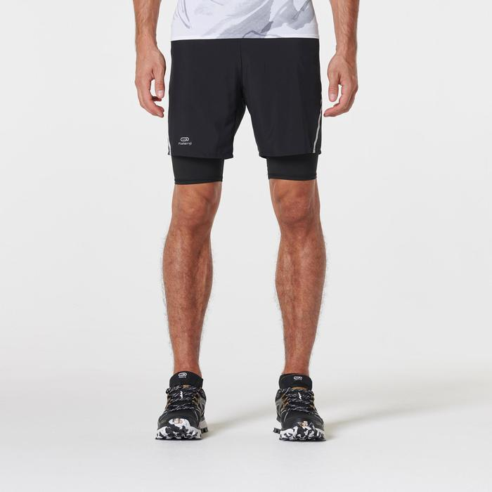 Baggy cuissard confort trail running noir homme