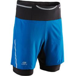 Mallas Cortas Shorts Depotivos Running Kalenji Confort Hombre Azul Con Mallas