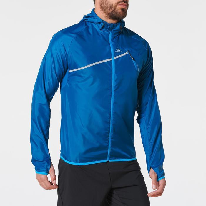 Veste coupe-vent trail running bleu homme
