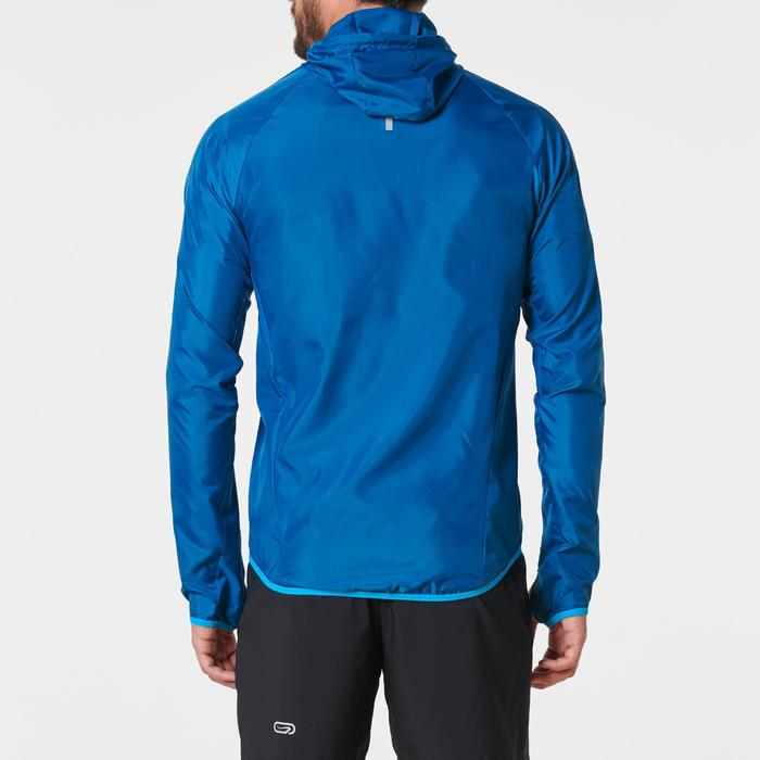 Chaqueta cortaviento trail running azul hombre