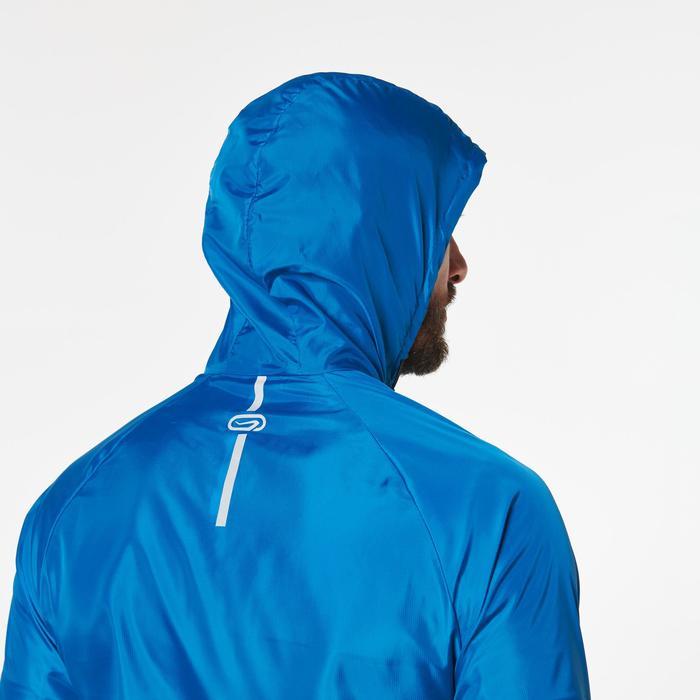 Veste coupe-vent trail running homme bleu