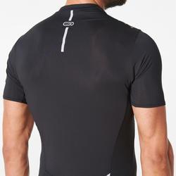 Tee shirt manches courtes trail running noir homme