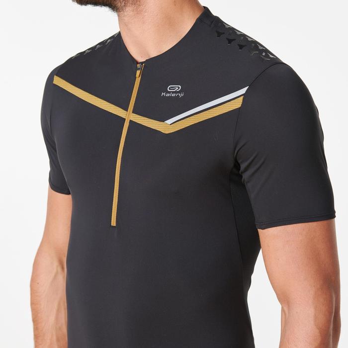 T-shirt korte mouwen traillopen zwart heren