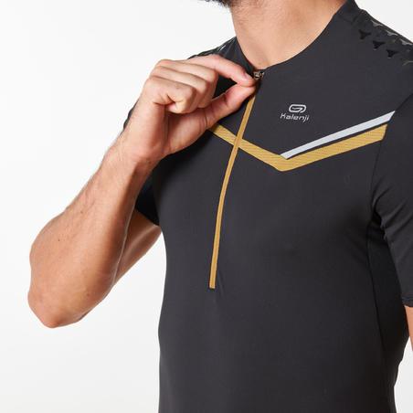 T-shirt manches courtes course sur sentier noir homme