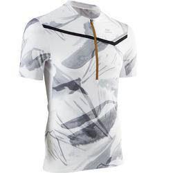 Camiseta Manga Corta Trail Running Kalenji Graph Hombre Blanca