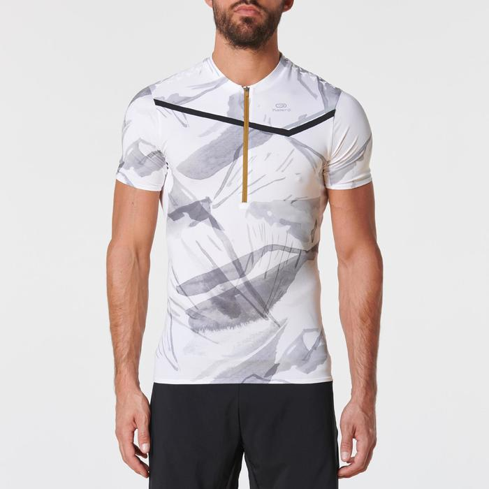 Men's Trail Running Short-Sleeved T-shirt - White/Graph
