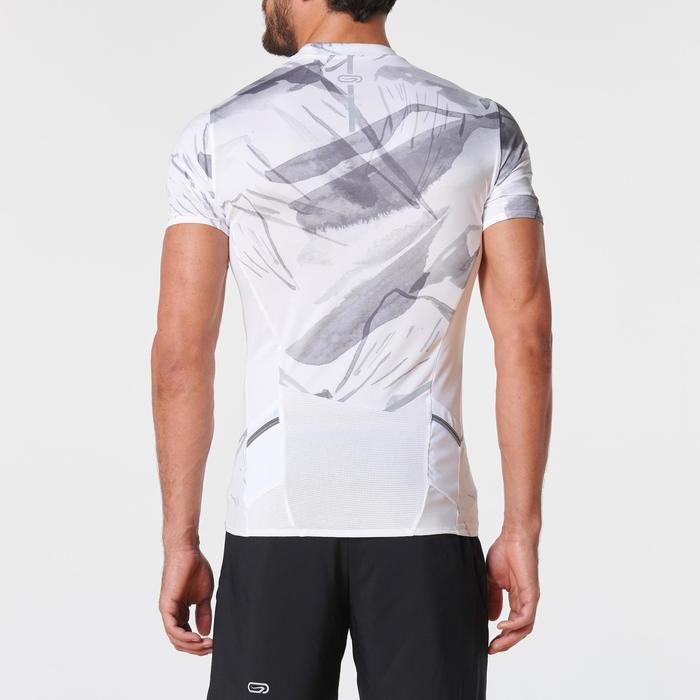 Tee shirt manches courtes trail running blanc graph homme