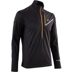 Men's Long-Sleeved Softshell Trail Running Top - Black Bronze