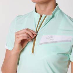 T-shirt met korte mouwen voor trail pastelmuntgroen dames
