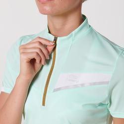 Women's Short-Sleeved Trail Running T-shirt - Pastel mint green