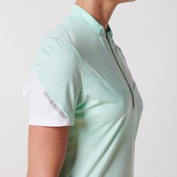 女款越野跑步短袖T恤-粉彩薄荷綠