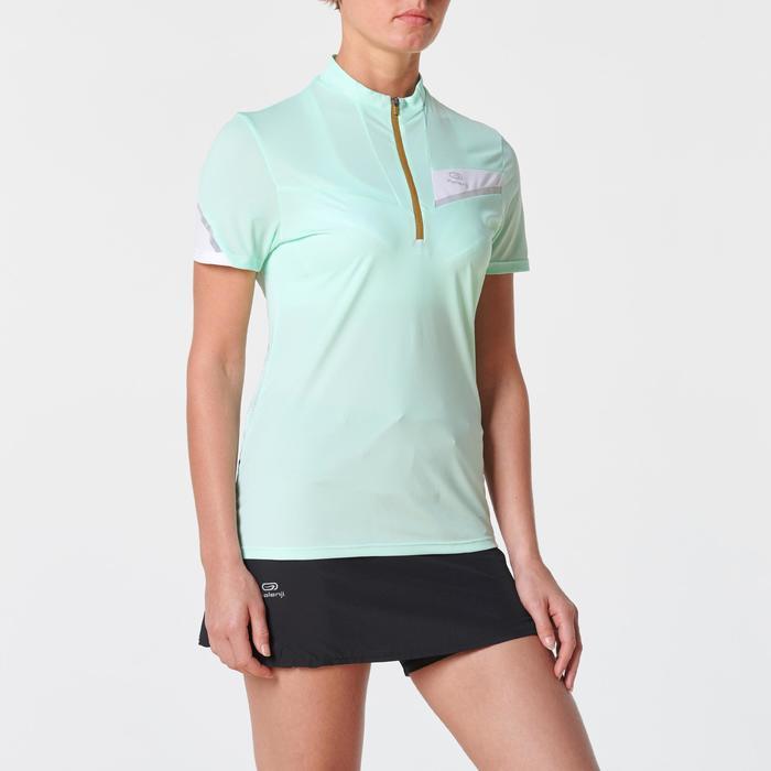 Tee shirt manches courtes trail running vert menthe pastel femme
