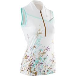 Camiseta Sin Mangas Running Kalenji Perf Trail Mujer Blanco Estampado Floral