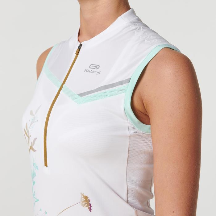 Débardeur trail running femme blanc vert pastel