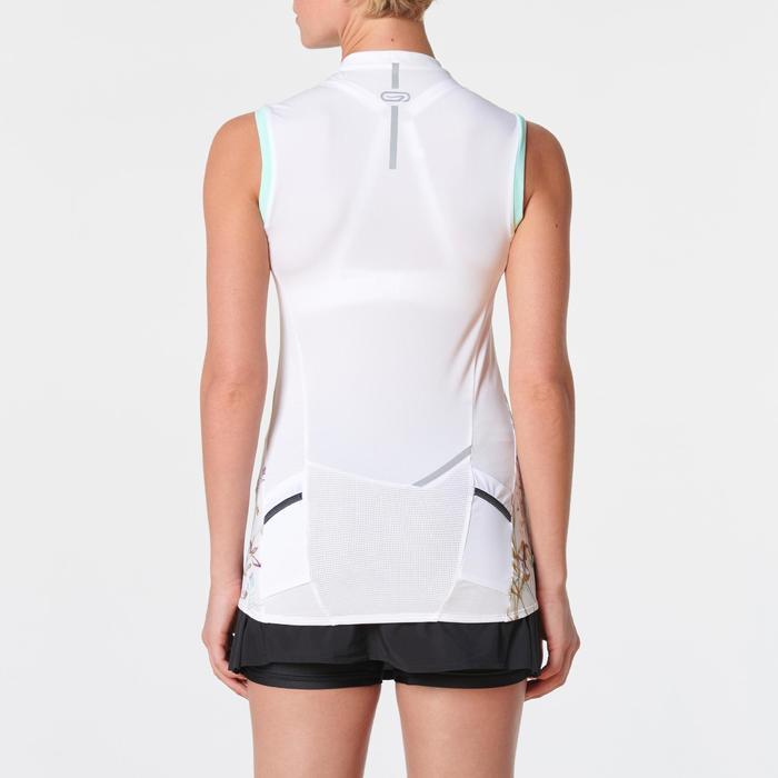 Damestop voor traillopen wit pastelgroen