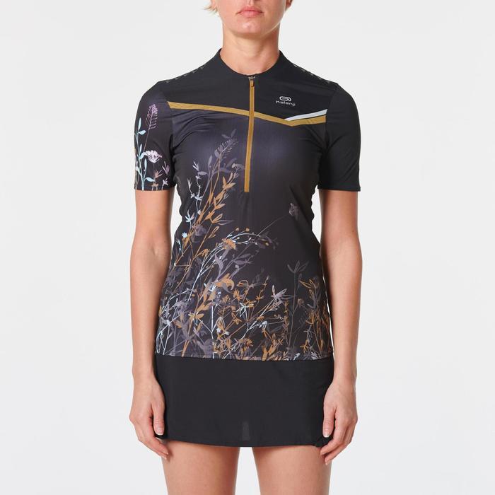 Tee shirt manches courtes trail running noir femme