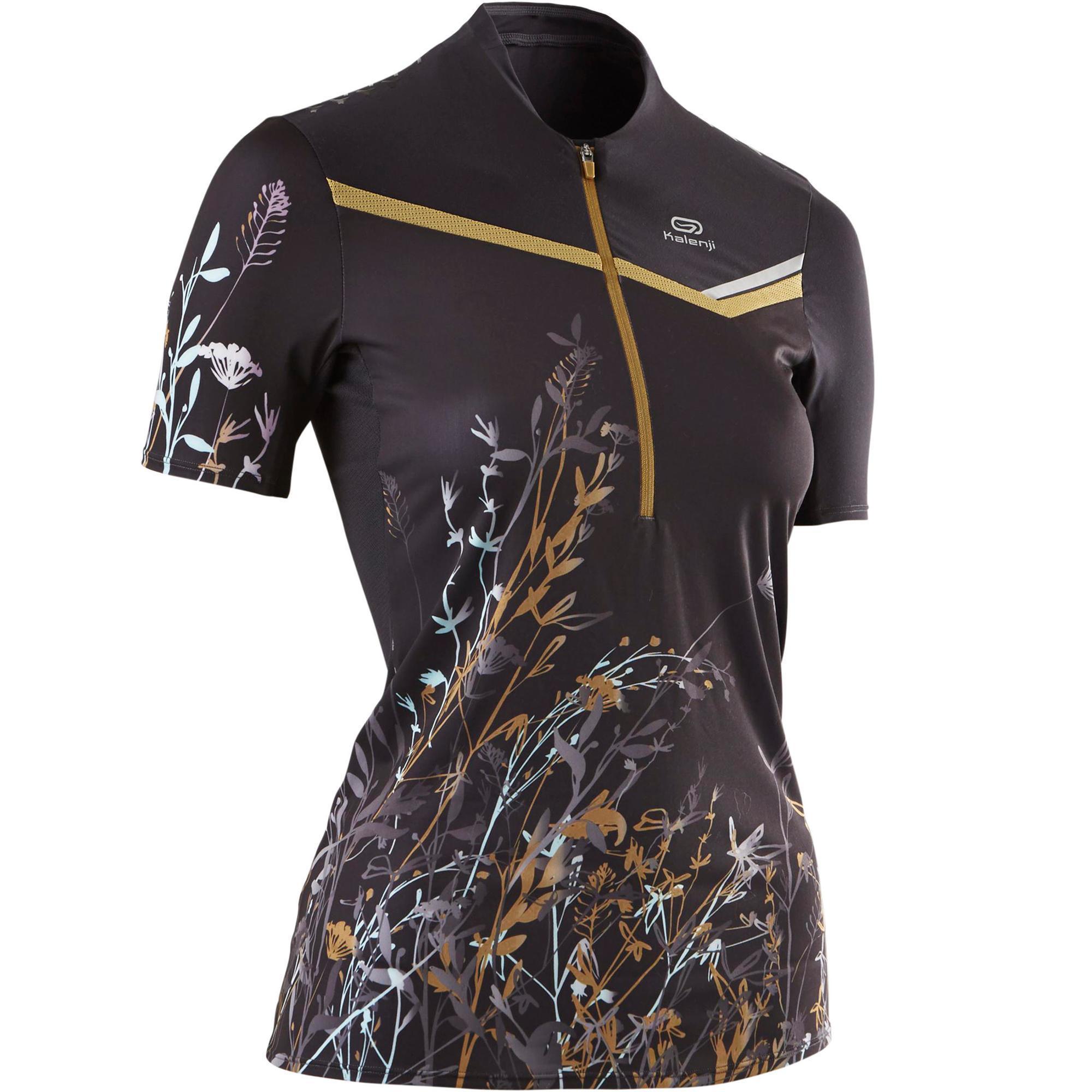 Kalenji T-shirt met korte mouwen voor trail dames zwart