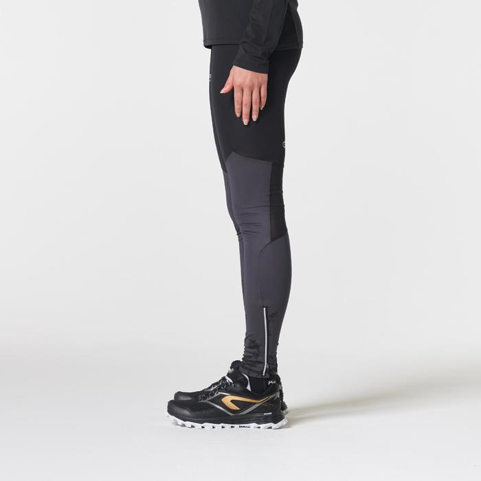 Collant trail running femme noir et gris