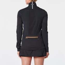 Camiseta chaqueta Softshell mangas largas trail negro bronce mujer