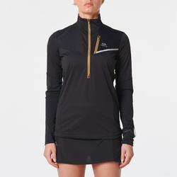 Softshell jack met lange mouwen traillopen zwart brons dames