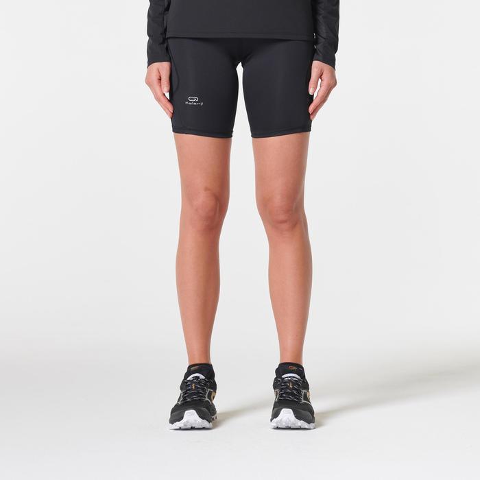 aliexpress imágenes detalladas apariencia estética Malla corta trail running para mujer negro