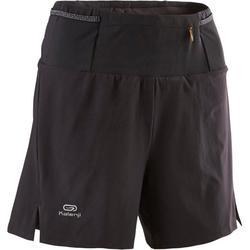 女款越野跑寬鬆短褲 - 黑色