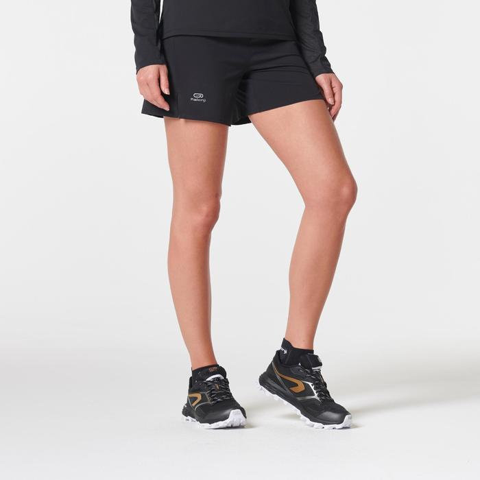 Pantalón Corto Deportivo Running Kalenji Trail Mujer Negro