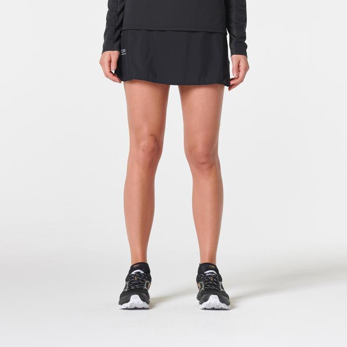Jupe short trail running noir femme