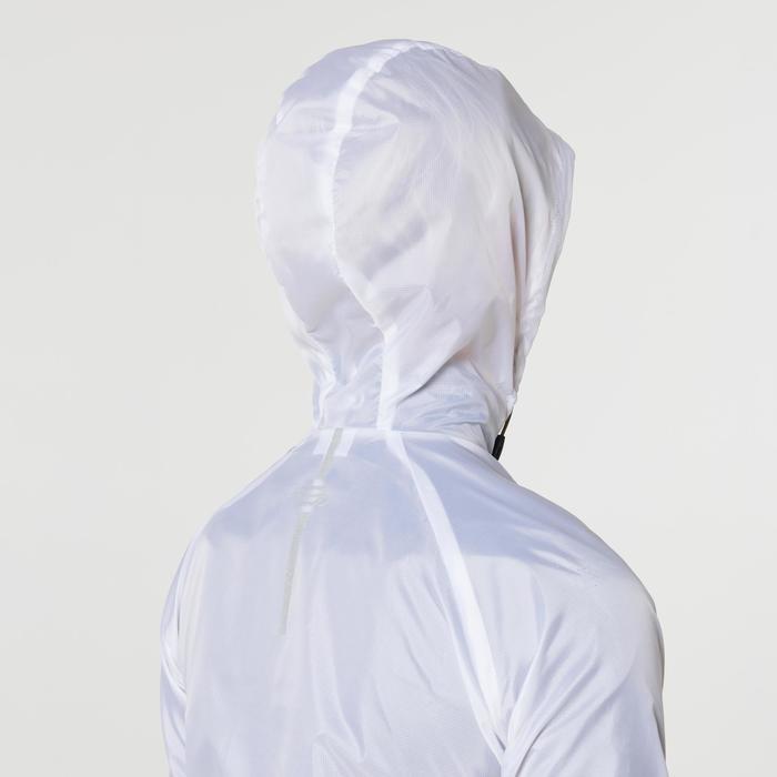 女款防風越野跑外套 - 雪白色