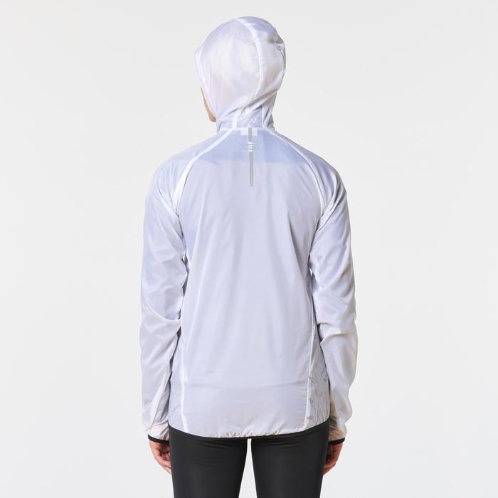 Veste coupe-vent trail running femme blanc