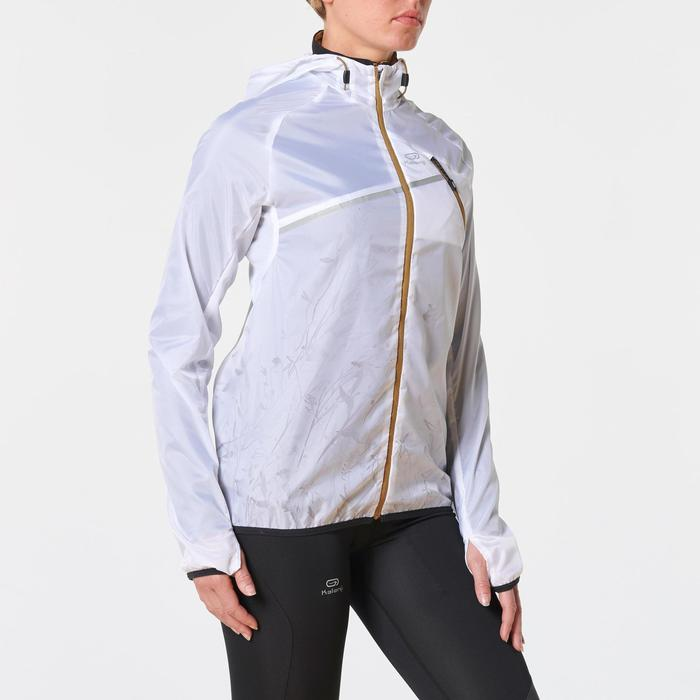 Lauf-Windjacke Trail Damen weiß