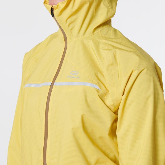 Regenjasje voor traillopen okergeel dames