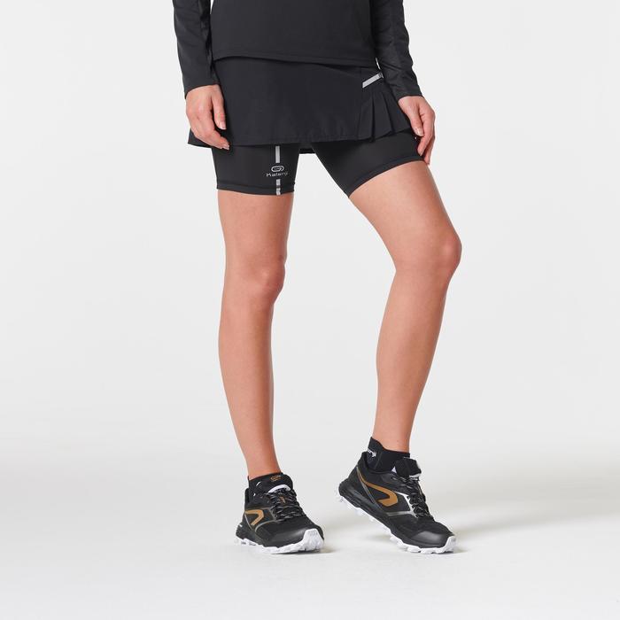Jupe cuissard confort trail running noir femme