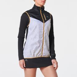 Mouwloos windjack voor traillopen dames wit