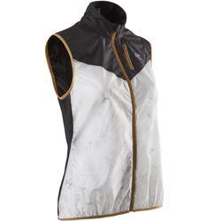 Mouwloos jasje voor traillopen dames wit