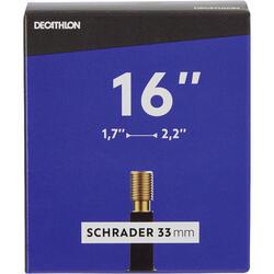 """16"""" 1.70 to 2.20 Schrader Valve Inner Tube"""